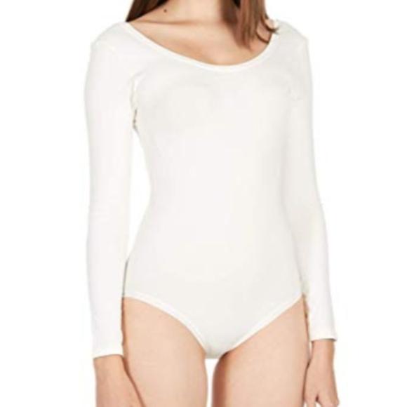 NEW NWT SPANX Long Sleeve Bodysuit Size Small Powder Off White Sz 3X